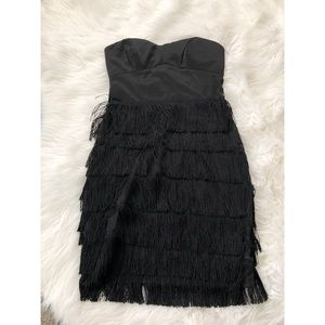 Dresses & Skirts - Black flapper fringe dress